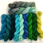 HUSH: Cariblue, Marina, Grimm Green, Rockin Robin's Egg Blue, Sea Foam Home,  Sky Blue, Shamrocked,  Very Merry Green & Primordial Ooze