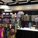 Booth is set up and we are ready for the knitters.