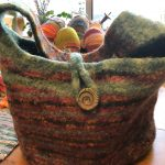 Felted Bag in Icelandic wool - we made tons of these way back when.
